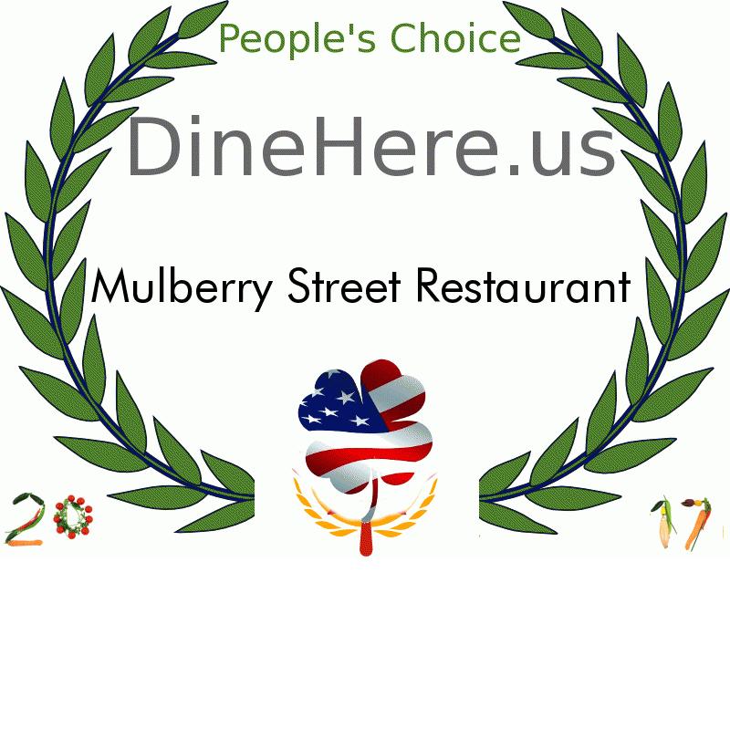 Mulberry Street Restaurant DineHere.us 2017 Award Winner
